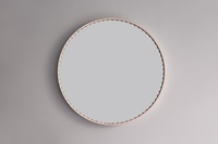 round leather mirror wall pink front stud round leather mirror 48