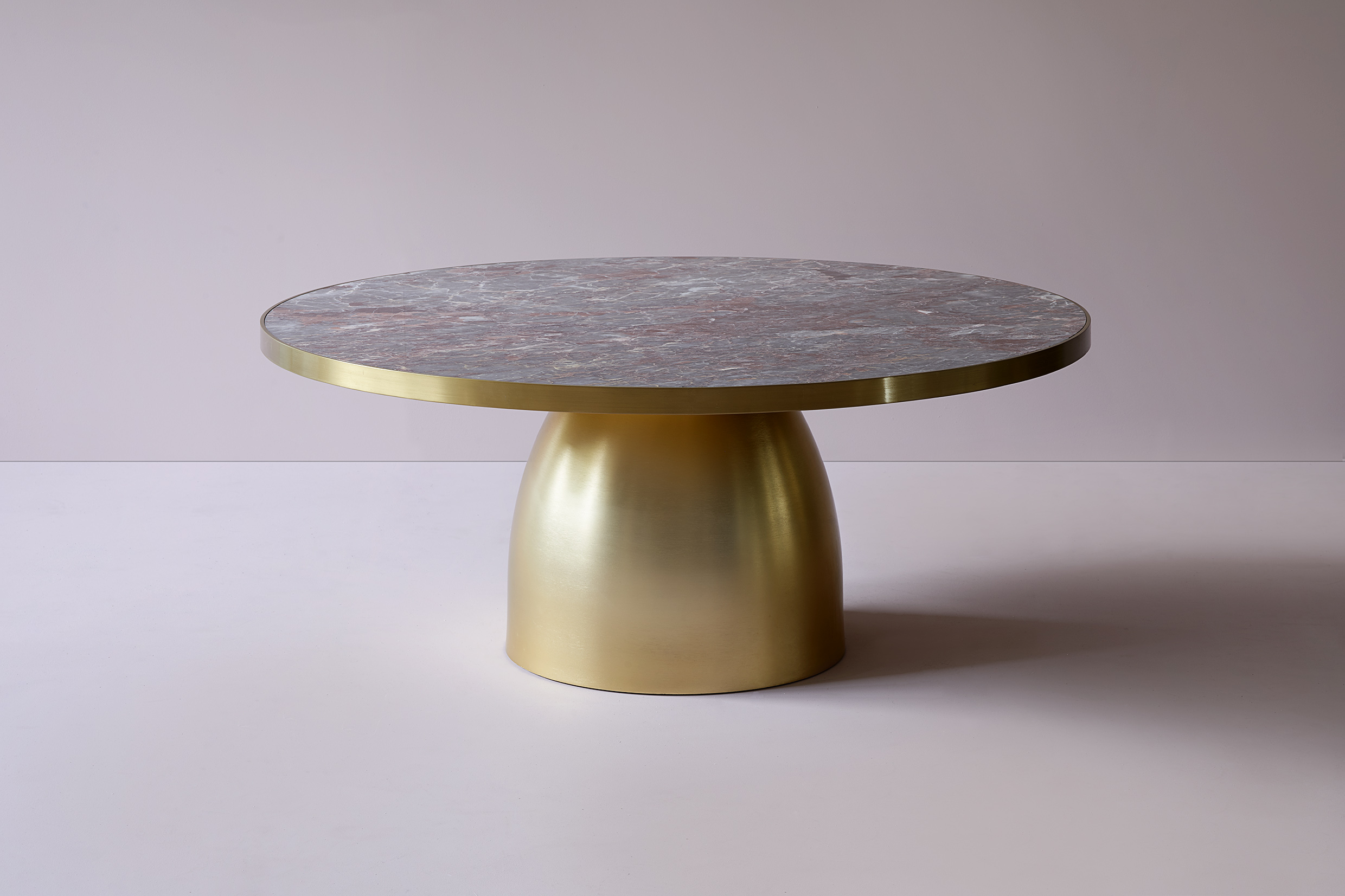 Lustre Round Marble Coffee Table 39 Quot Plain Top Ej Victor