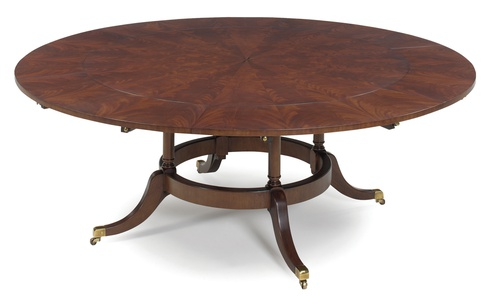 round dining room table with leaves | 60'' Round Dining Table with Six Perimeter Leaves | EJ Victor
