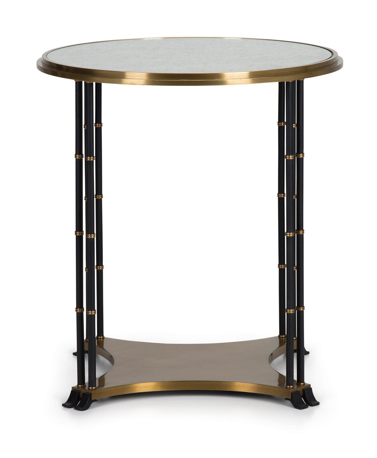 Amazon Coffee Table With Beveled Glass Top And Black Metal: Grace Round Metal End Table