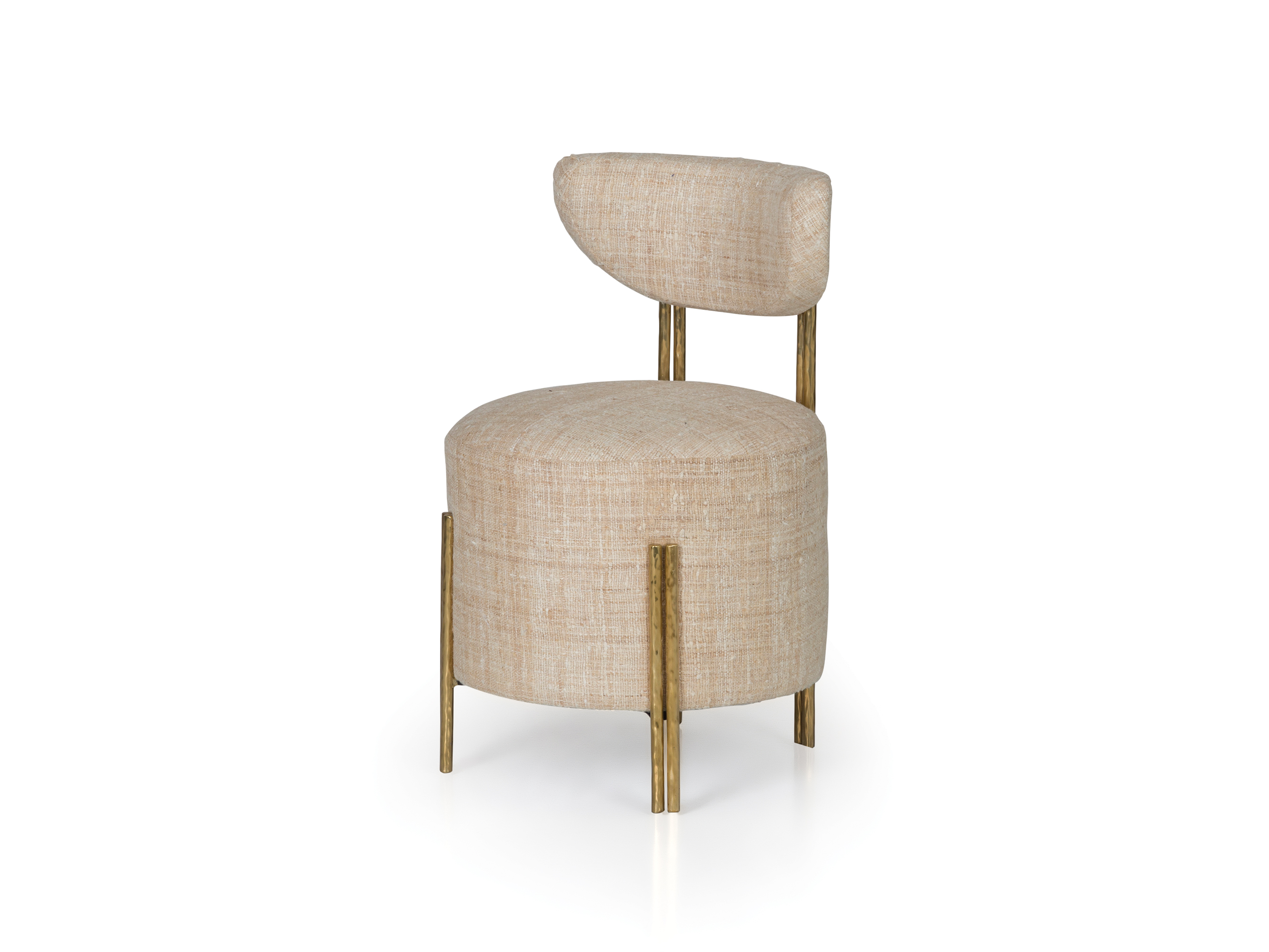 Fantastic Melange Vanity Stool Ej Victor Creativecarmelina Interior Chair Design Creativecarmelinacom