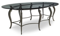 Chablis Metal Base Dining Table by EJ Victor