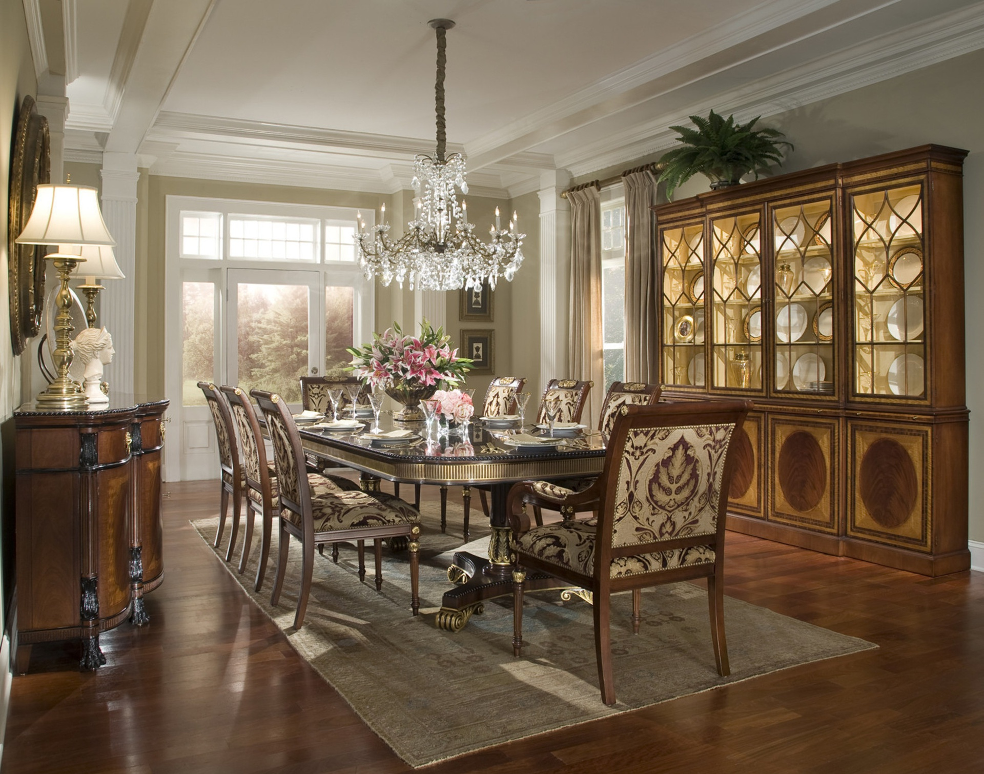 Awesome regency dining room photos exterior ideas 3d for Regency dining room